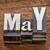 may month in metal type stock photo © pixelsaway