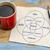 kalmak · motive · el · yazısı · peçete · fincan · espresso - stok fotoğraf © pixelsaway