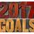 2017 goals in letterpress wood type stock photo © pixelsaway