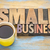 small business banner in letterpress wood type stock photo © pixelsaway
