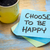 choose to be happy note with coffee stock photo © pixelsaway