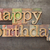 joyeux · anniversaire · mots · écrit · vintage · type - photo stock © pixelsaway