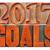 2017 goals banner in wood type stock photo © pixelsaway