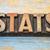 estatística · palavra · madeira · tipo · vintage - foto stock © pixelsaway