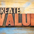 create value word abstract in wood typography stock photo © pixelsaway