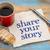 share your story   napkin stock photo © pixelsaway
