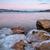 montanha · fuji · lago · inverno · nascer · do · sol · água - foto stock © pixelsaway
