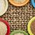 コメ · 穀類 · ボウル · 抽象的な · 素朴な - ストックフォト © pixelsaway