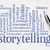 storytelling word cloud on paper stock photo © pixelsaway