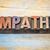 empathy word abstract in wood type stock photo © pixelsaway