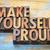 make yourself proud stock photo © pixelsaway