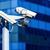 безопасности · кабельное · телевидение · камеры · наблюдение · офисное · здание · улице - Сток-фото © pixinoo