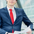 gens · d'affaires · exécutif · à · l'extérieur · bureau · affaires · marche - photo stock © pixinoo