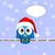 christmas · social · media · dymka · płatki · śniegu · sieci - zdjęcia stock © pixxart