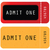 red   yellow ticket   admit one stock photo © place4design