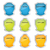 vektör · ayarlamak · mavi · dizayn · Metal · çerçeve - stok fotoğraf © place4design