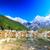 halcón · nieve · montana · dragón · cielo - foto stock © pngstudio