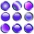 9 Purple Web Buttons stock photo © PokerMan