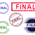 5 grunge effect office stamps   final stock photo © pokerman