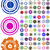 quadro · círculos · vetor · brilhante · arco-íris · projeto - foto stock © pokerman