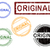 5 grunge effect office stamps   original stock photo © pokerman