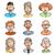 erkekler · kadın · ayarlamak · dokuz · gülen · karikatür - stok fotoğraf © polygraphus