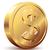 dollár · arany · érme · dollárjel · eps8 · szervezett · rétegek - stock fotó © polygraphus