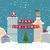 noel · baba · oturma · çatı · neşeli · Noel · mutlu - stok fotoğraf © popaukropa