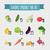 conjunto · vegetal · calorias · branco · ilustração · comida - foto stock © popaukropa