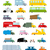car set cartoon style big transport icons collection ground se stock photo © popaukropa