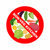 stop sign banning red sign strikethrough vegetables potatoes stock photo © popaukropa