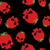 strawberry skull seamless pattern red head skeleton with textur stock photo © popaukropa