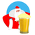 santa claus and beer christmas beer mug new year alcohol stock photo © popaukropa