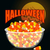 halloween bowl and candy cornmoon and bat sweets on plate tr stock photo © popaukropa