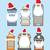 papai · noel · conjunto · feliz · tradicional · natal · isolado - foto stock © popaukropa