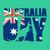 オーストラリア人 · フラグ · 3dのレンダリング · 反射 - ストックフォト © popaukropa