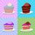 set a piece of cake on a plate cake on a bright background str stock photo © popaukropa