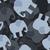 siluetă · elefant · taur · insulă · râu · apus - imagine de stoc © popaukropa