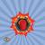 boxe · icône · emblème · rouge · deux - photo stock © popaukropa