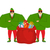 santa elf and red bag claus bodyguards christmas guards prote stock photo © popaukropa
