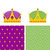 royal set seamless pattern for mantle and a golden crown for ki stock photo © popaukropa