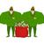 santa elf and red bag full money claus bodyguards christmas gu stock photo © popaukropa
