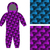 childrens apparel template jumpsuit with pattern of fish 3d ba stock photo © popaukropa