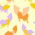 cow wings seamless pattern colored silhouettes flying animal v stock photo © popaukropa