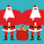 santa claus bodyguards christmas security guards protecting re stock photo © popaukropa