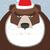 russian santa claus bear wild animal with beard and moustache stock photo © popaukropa