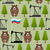 russian seamless pattern bears and forest oil rig and a russia stock photo © popaukropa