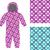 kids overalls set of seamless pattern interlocking web childre stock photo © popaukropa