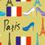 vektör · hat · sanat · Paris · Fransa · seyahat - stok fotoğraf © popaukropa