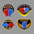 set boxing emblem vector illustration boxing gloves in embem stock photo © popaukropa